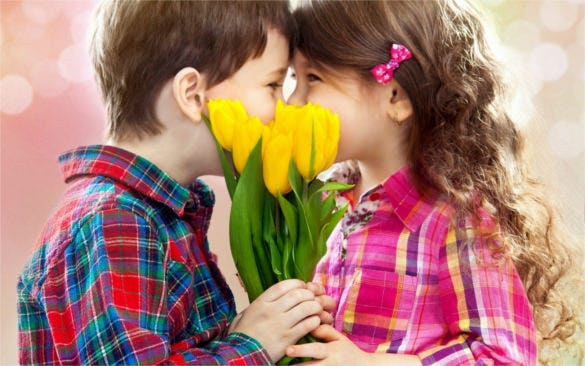 flowers makes a love romantic day