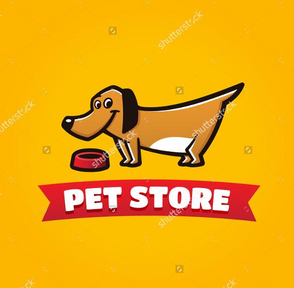 pet dog logo vector template download