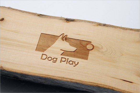 dog play logo template