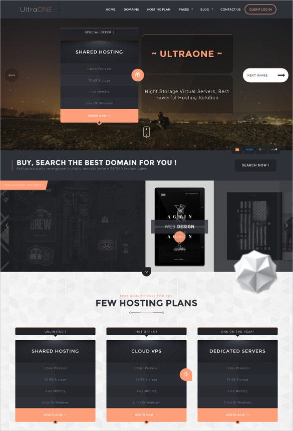 bootstrap responsive html5 hosting template1