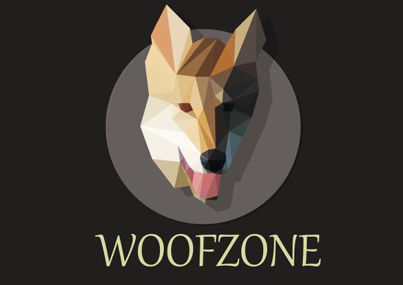 woofzone logo of dog template
