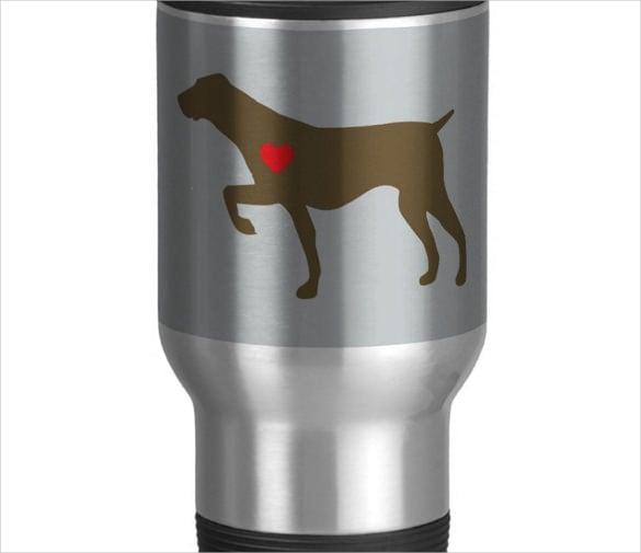 logo of dog on mug