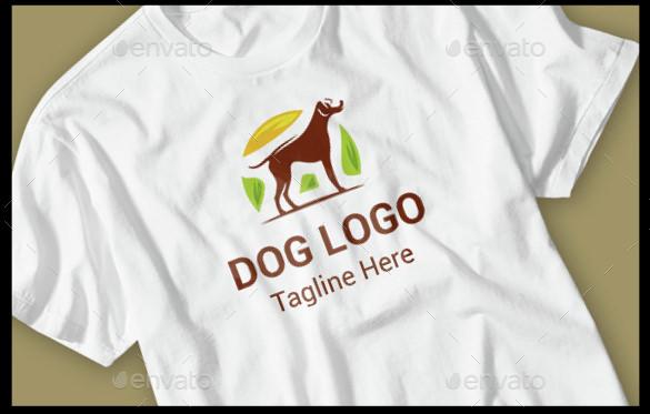 dog logo on t shirt