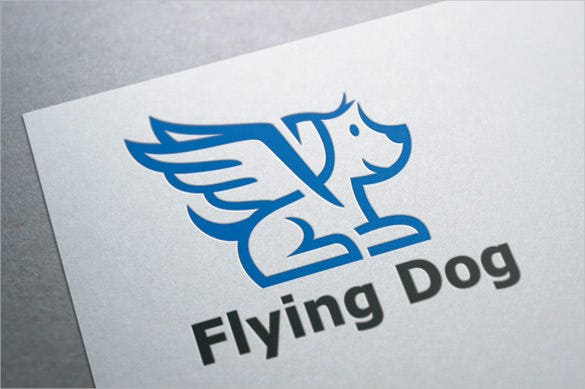 flying dog logo template