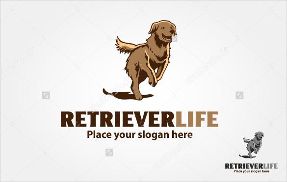 retriever dog logo template