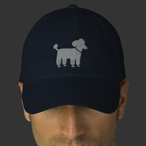 dog logo on cap