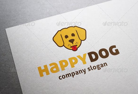 laughing dog logo template