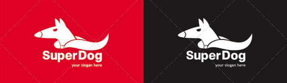 super dog logo template