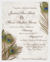 Beautiful Peacock Feathers Wedding