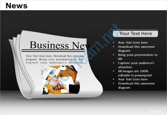 powerpoint newspaper software example template download
