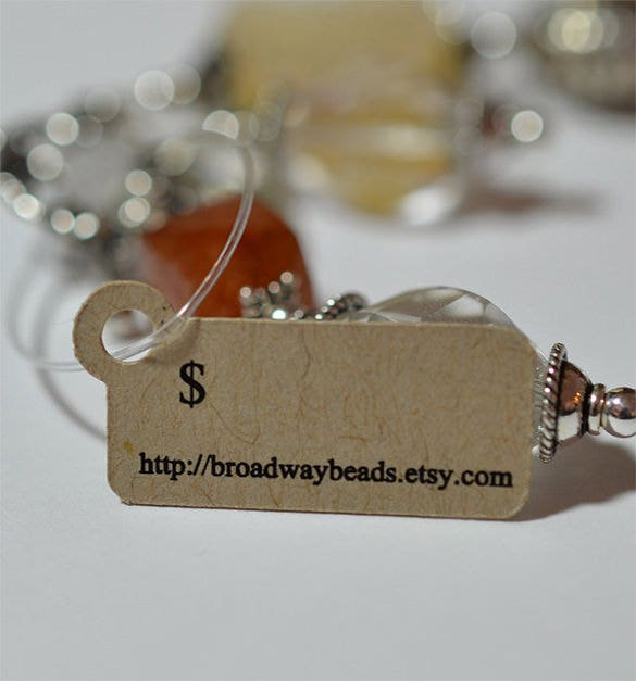 small custom jewelry hang tags