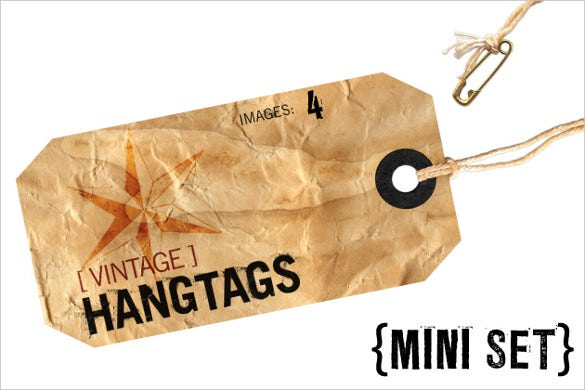 vintage hang tags download template 1