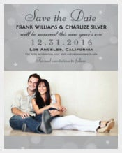 Platinum Gray 5x7 Paper Invitation Card