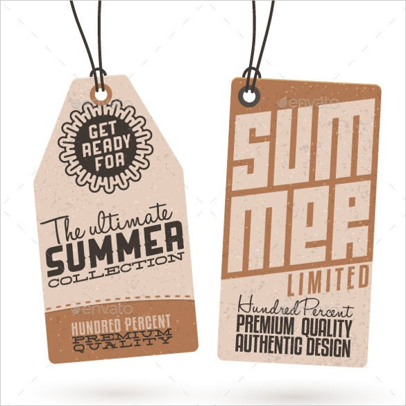 Hang Tag Template Templates  Free Sample Example Format