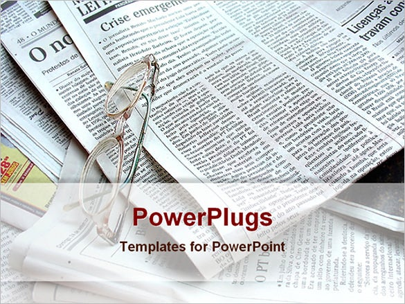 open office professional newspaper powerpoint sample template download