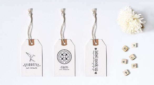 brand marketing clothing hang tag design