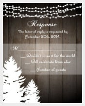Rustic Holiday Wedding Invitation