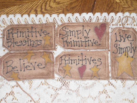 primitive and fabric hang tags download