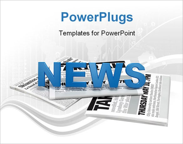 blank powerpoint newspaper sample template download