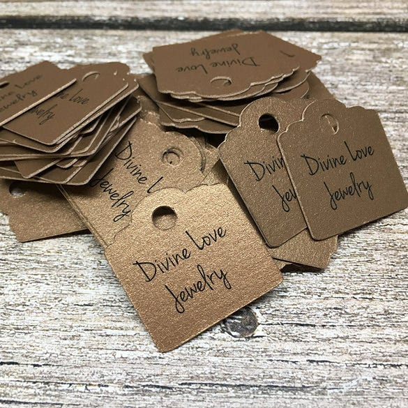 personalized with logo text hang tags