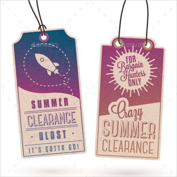 clearance sale hang tags template