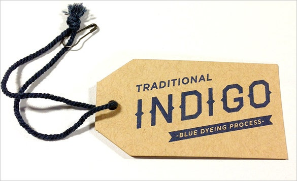 fossil group indigo hang tag template