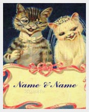 Two Cats Funny Wedding Invitation