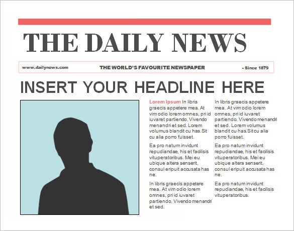 microsoft office editable powerpoint newspaper example template
