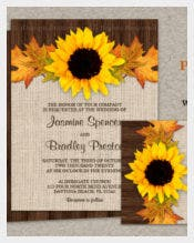 Fall Sunflower Wedding Invitation