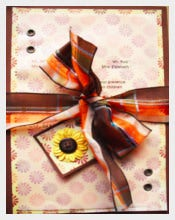 Autumn Sunflower Wedding Invitation