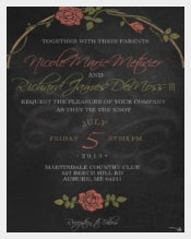 Design Chalkboard Wedding Invitation