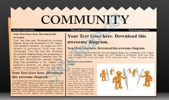 sample newspaper article powerpoint template download