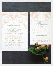 Beautiful Vintage Wedding Invitation