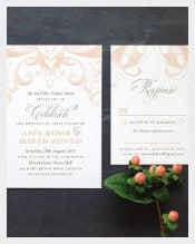 Beautiful Vintage Wedding Invitation