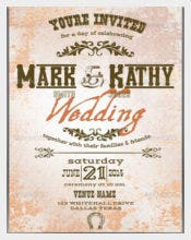 Best Western Wedding Invitation