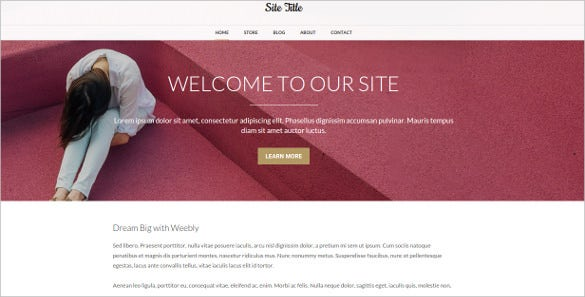 free ultra clean fashion weebly theme