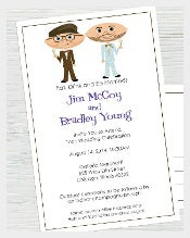 guys Wedding Invitation In Cartoon