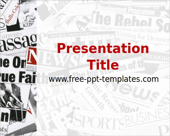 sample newspaper ppt template free download