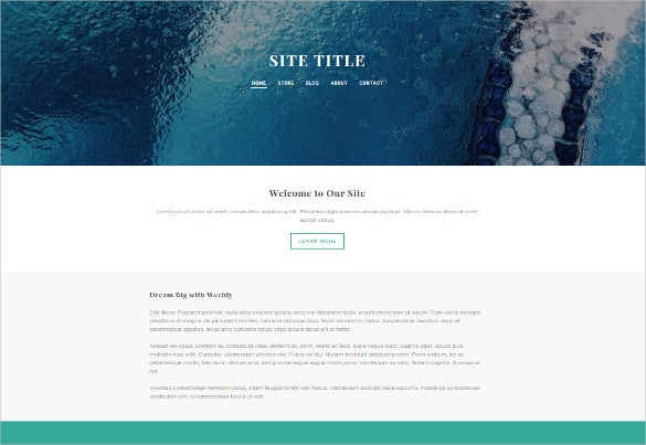 creative free weebly theme