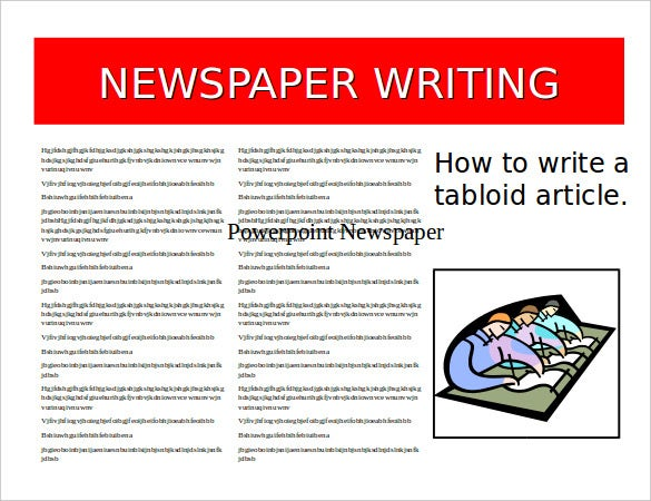 example of powerpoint newspaper template free download