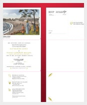 Tri Fold Postcard Wedding Invitation