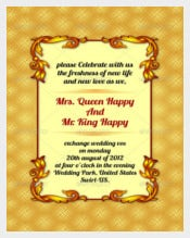 3 Color Design Wedding Invitation