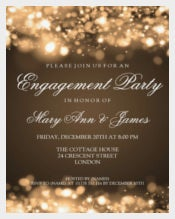 Wedding Engagement Party Invitation in Sparkling Lights