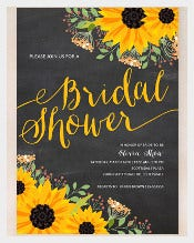 Sunflower Bridal Shower Wedding