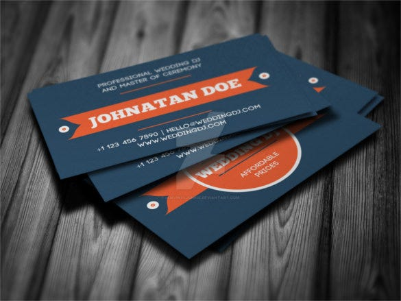 wedding dj business card template download