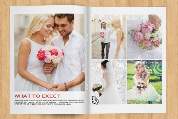 wedding magazine 24 pages with 2 cover design download