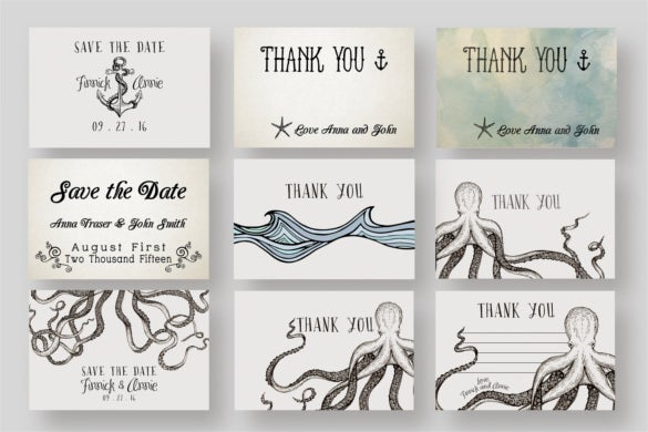 giant nautical wedding collection templates in psd