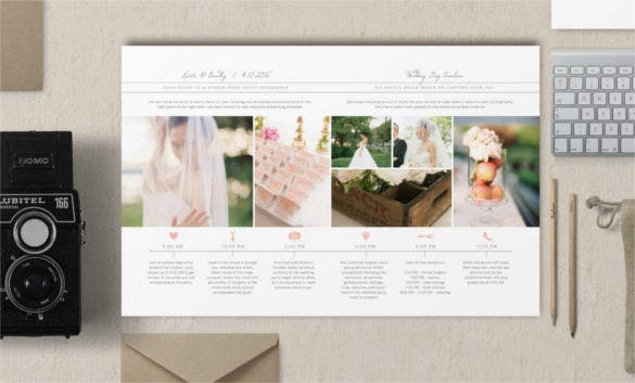 wedding day timeline template premium psd download