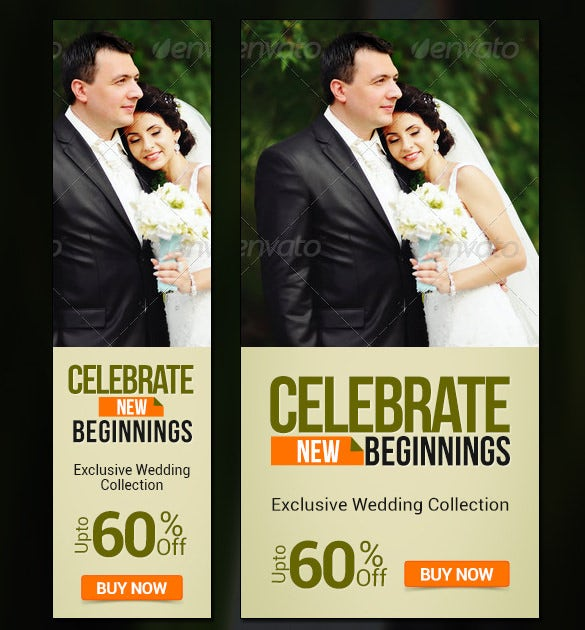 wedding collection banners template psd design
