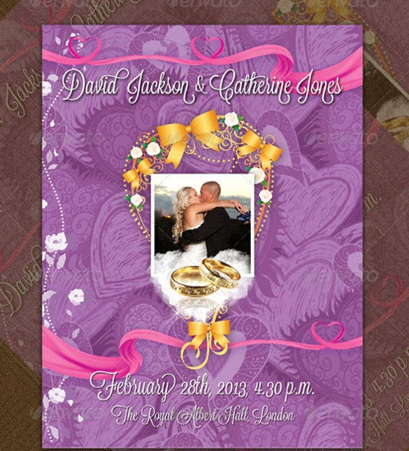 wedding items programme guest list sheet psd